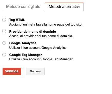 search console metodi alternativi