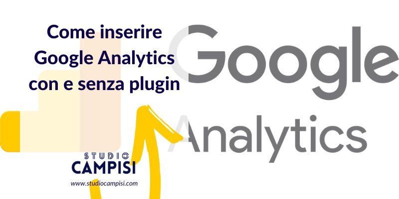 inserire google analytics su wordpress
